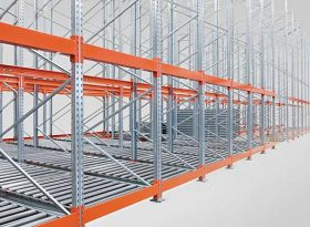 Push Back Roller Racking